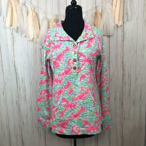 Lilly Pulitzer Lobstah Roll Popover Size Medium